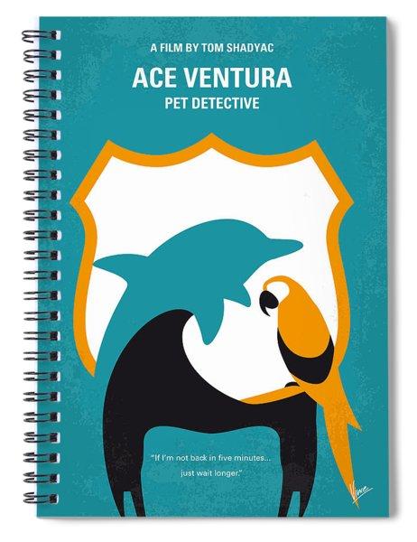 No558 My Ace Ventura Minimal Movie Poster Spiral Notebook