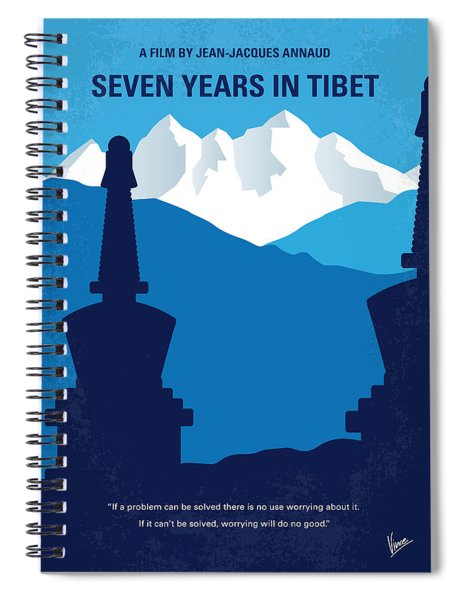 No559 My Seven Years In Tibet Minimal Movie Poster Spiral Notebook