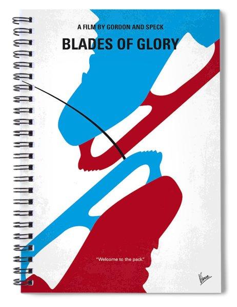 No562 My Blades Of Glory Minimal Movie Poster Spiral Notebook