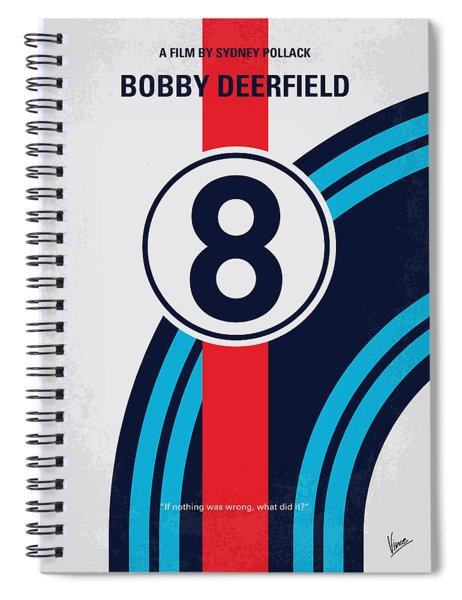 No565 My Bobby Deerfield Minimal Movie Poster Spiral Notebook