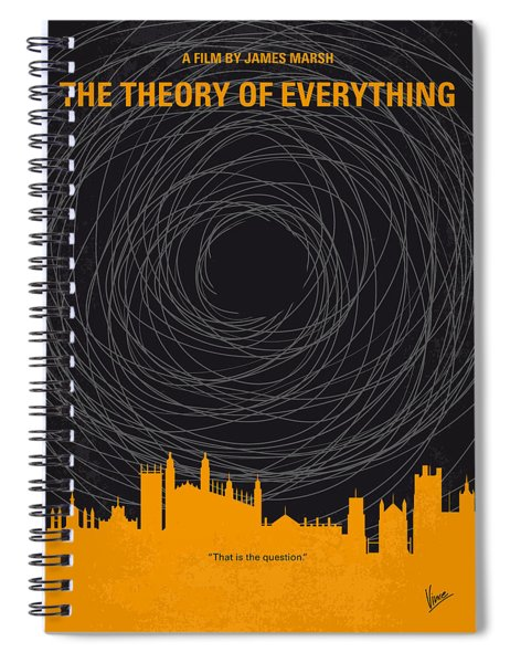 No568 My The Theory Of Everything Minimal Movie Poster Spiral Notebook