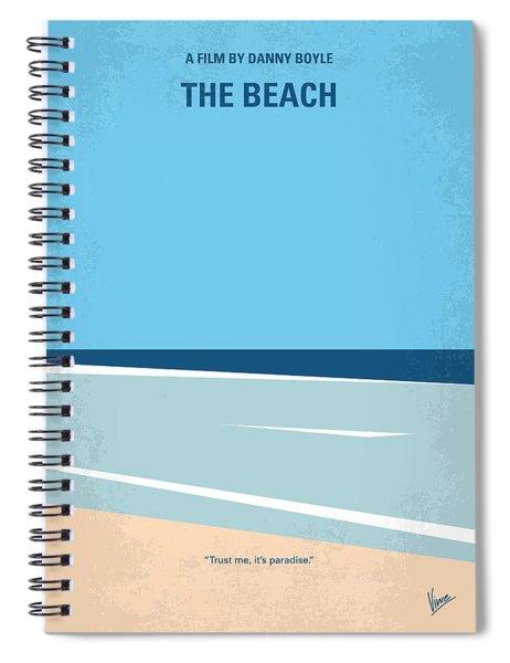 No569 My The Beach Minimal Movie Poster Spiral Notebook