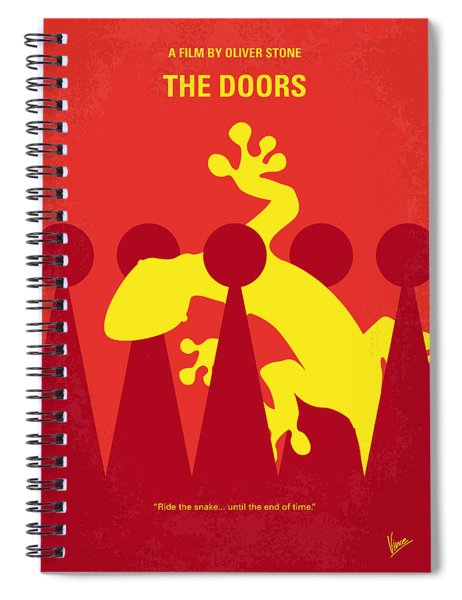 No573 My The Doors Minimal Movie Poster Spiral Notebook