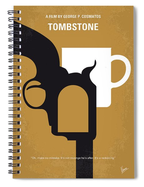 No596 My Tombstone Minimal Movie Poster Spiral Notebook