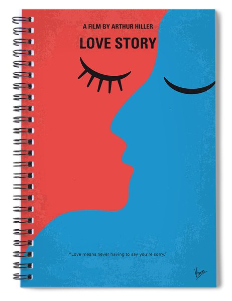 No600 My Love Story Minimal Movie Poster Spiral Notebook