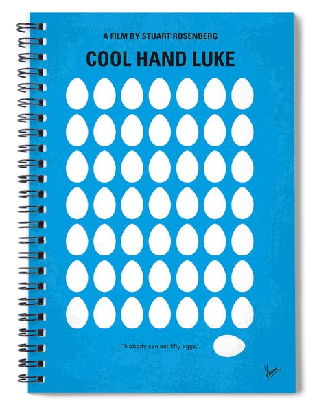 No616 My Cool Hand Luke Minimal Movie Poster Spiral Notebook