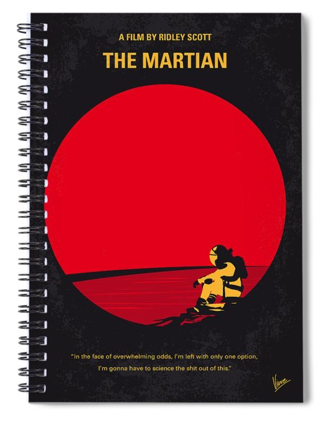 No620 My The Martian Minimal Movie Poster Spiral Notebook