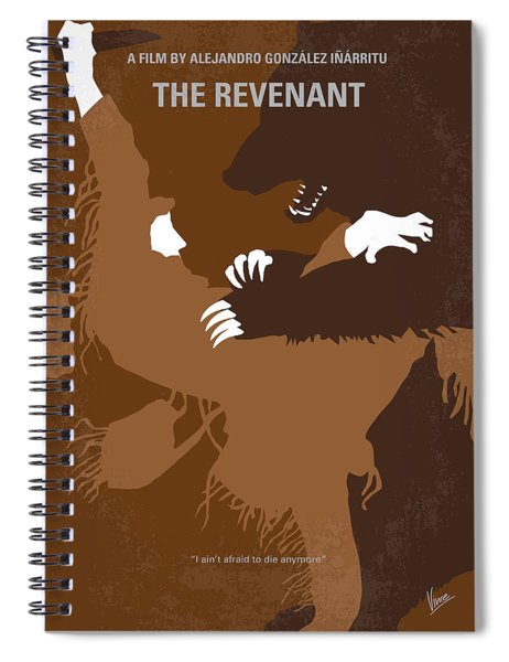 No623 My The Revenant Minimal Movie Poster Spiral Notebook