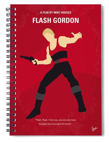 No632 My Flash Gordon Minimal Movie Poster Spiral Notebook
