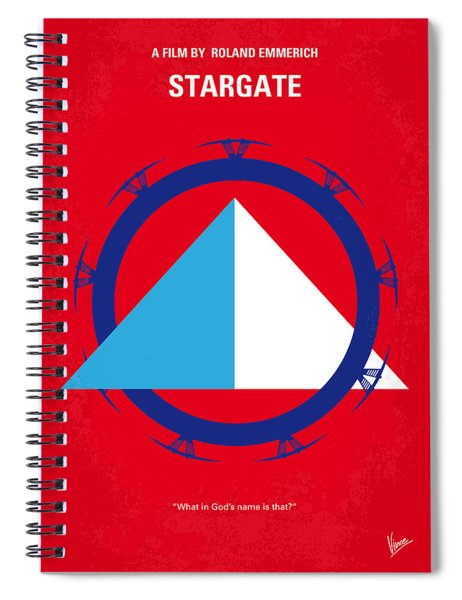No644 My Stargate Minimal Movie Poster Spiral Notebook by Chungkong Art