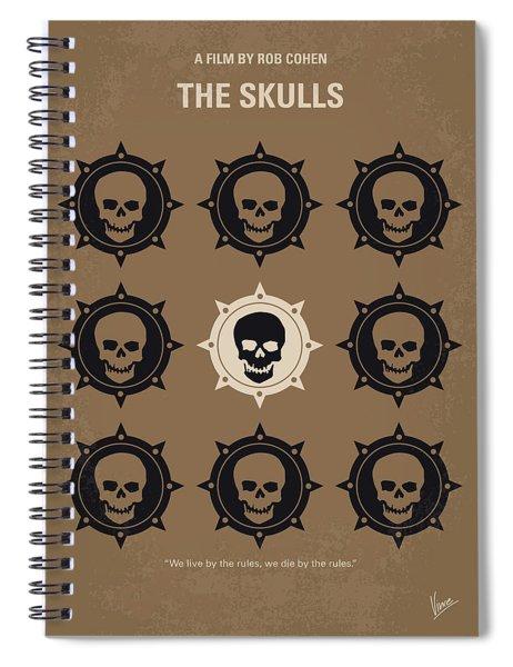No662 My The Skulls Minimal Movie Poster Spiral Notebook
