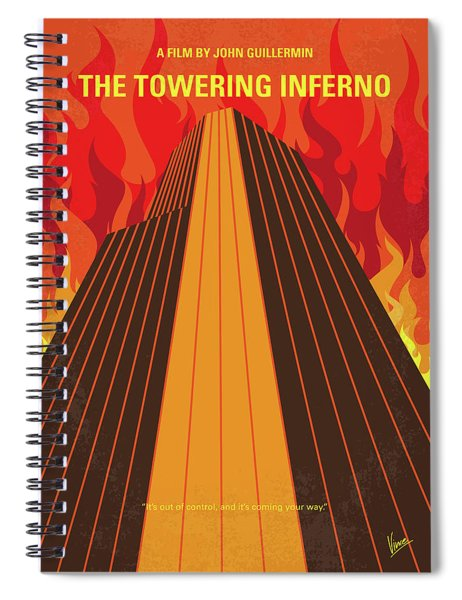 No665 My The Towering Inferno Minimal Movie Poster Spiral Notebook