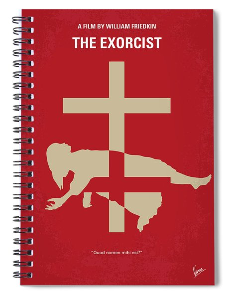 No666 My The Exorcist Minimal Movie Poster Spiral Notebook