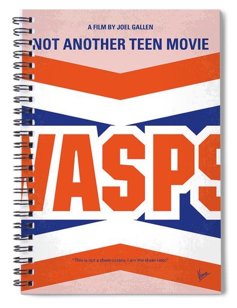 No667 My Not Another Teen Minimal Movie Poster Spiral Notebook