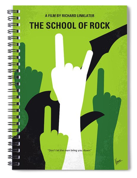 No668 My The School Of Rock Minimal Movie Poster Spiral Notebook