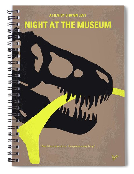 No672 My Night At The Museum Minimal Movie Poster Spiral Notebook