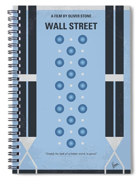 No683 My Wall Street Minimal Movie Poster Spiral Notebook