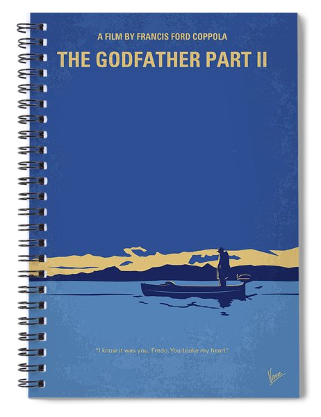No686-2 My Godfather II Minimal Movie Poster Spiral Notebook