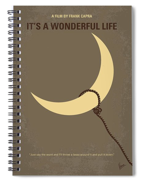 No700 My Its A Wonderful Life Minimal Movie Poster Spiral Notebook