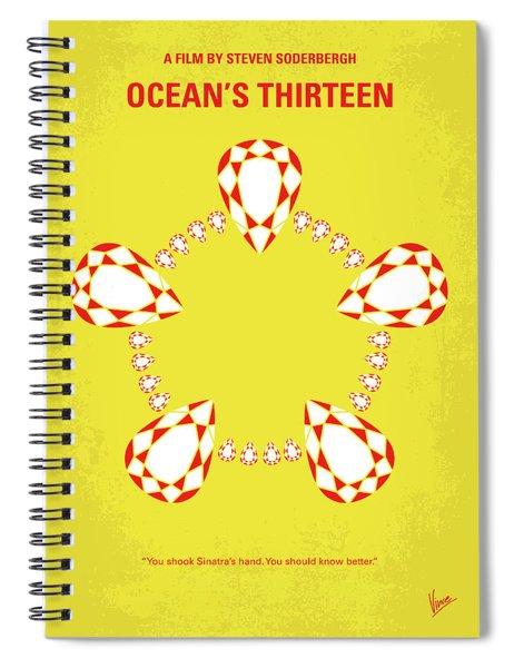 No706 My Oceans 13 Minimal Movie Poster Spiral Notebook