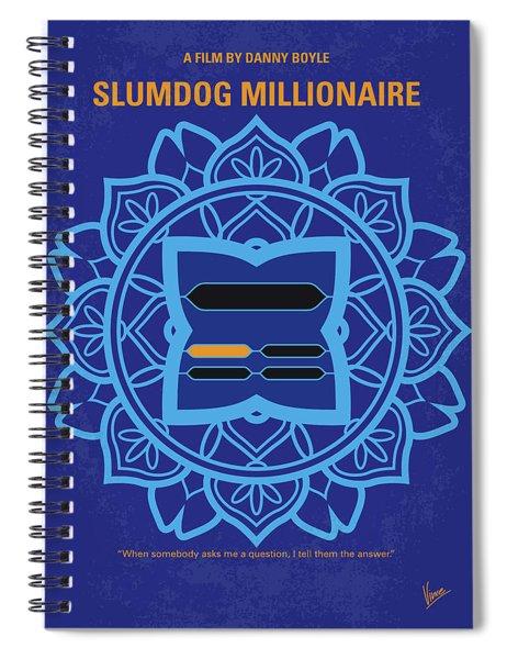 No708 My Slumdog Millionaire Minimal Movie Poster Spiral Notebook