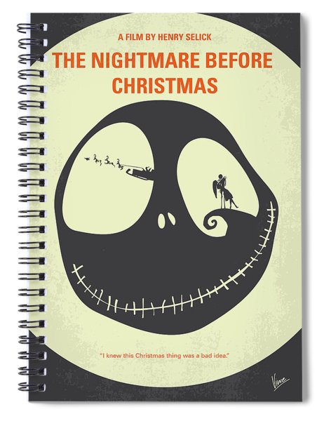 No712 My The Nightmare Before Christmas Minimal Movie Poster Spiral Notebook