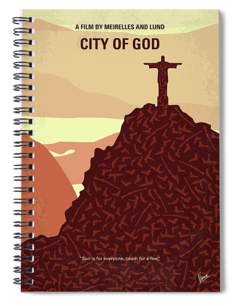No716 My City Of God Minimal Movie Poster Spiral Notebook