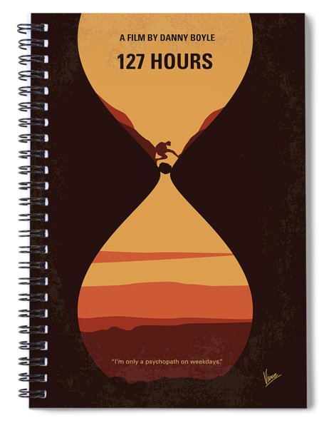 No719 My 127 Hours Minimal Movie Poster Spiral Notebook