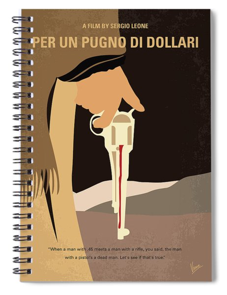 No721 My A Fistful Of Dollars Minimal Movie Poster Spiral Notebook