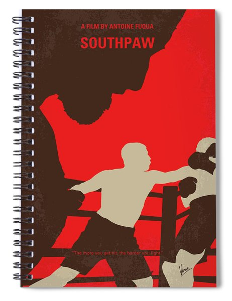 No723 My Southpaw Minimal Movie Poster Spiral Notebook