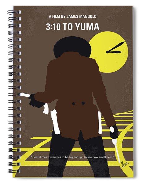 No726 My 310 To Yuma Minimal Movie Poster Spiral Notebook