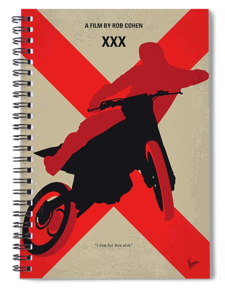 No728 My Xxx Minimal Movie Poster Spiral Notebook