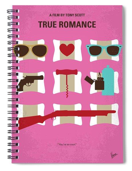 No736 My True Romance Minimal Movie Poster Spiral Notebook