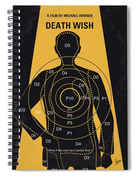 No740 My Death Wish Minimal Movie Poster Spiral Notebook
