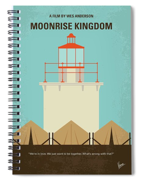 No760 My Moonrise Kingdom Minimal Movie Poster Spiral Notebook