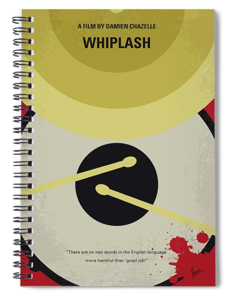 No761 My Whiplash Minimal Movie Poster Spiral Notebook