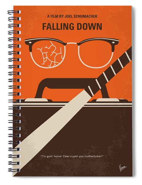 No768 My Falling Down Minimal Movie Poster Spiral Notebook