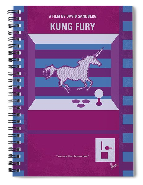 No770 My Kung Fury Minimal Movie Poster Spiral Notebook