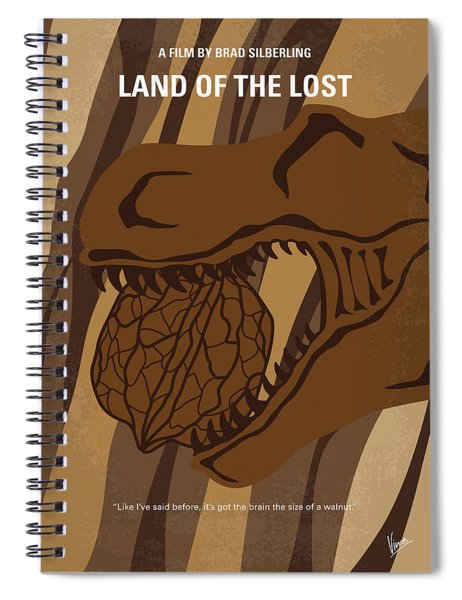 No773 My Land Of The Lost Minimal Movie Poster Spiral Notebook