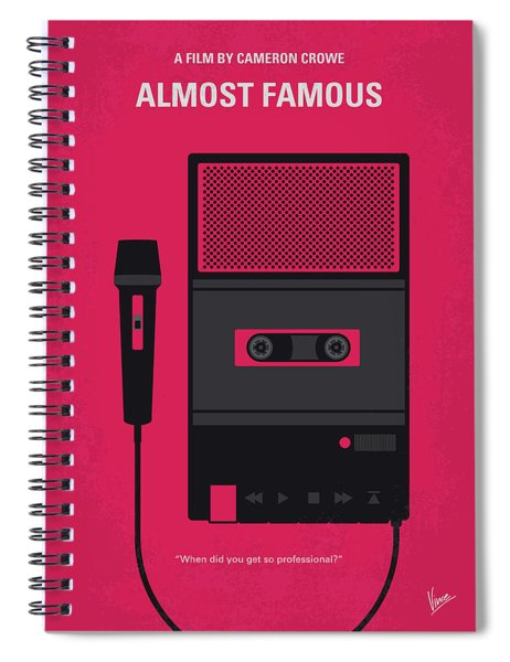 No781 My Almost Famous Minimal Movie Poster Spiral Notebook