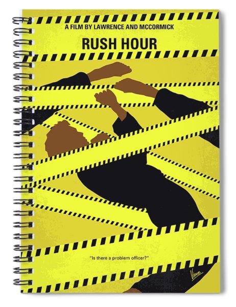No816 My Rush Hour Minimal Movie Poster Spiral Notebook