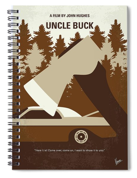 No818 My Uncle Buck Minimal Movie Poster Spiral Notebook