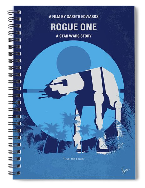 No819 My Rogue One Minimal Movie Poster Spiral Notebook