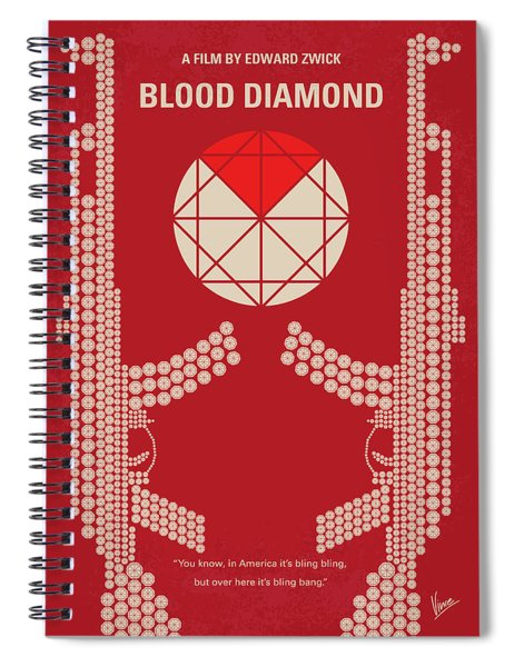 No833 My Blood Diamond Minimal Movie Poster Spiral Notebook