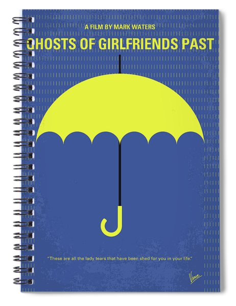 No839 My Ghosts Of Girlfriends Past Minimal Movie Poster Spiral Notebook