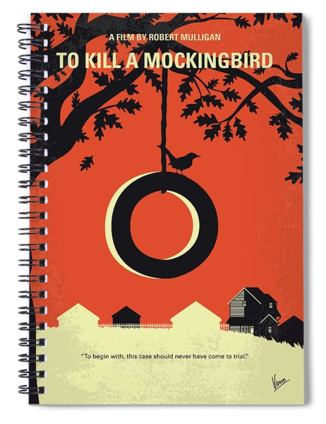 No844 My To Kill A Mockingbird Minimal Movie Poster Spiral Notebook