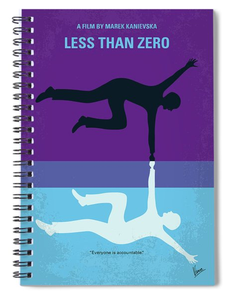 No848 My Less Than Zero Minimal Movie Poster Spiral Notebook