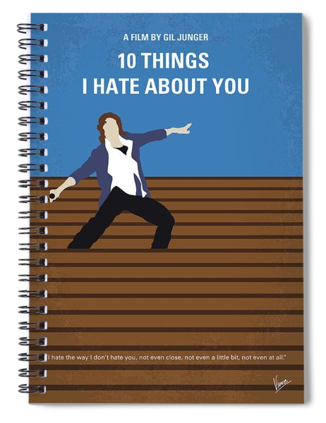 No850 My 10 Things I Hate About You Minimal Movie Poster Spiral Notebook