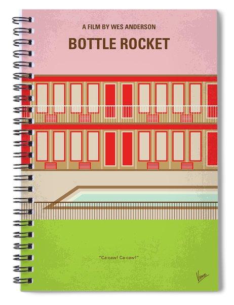 No855 My Bottle Rocket Minimal Movie Poster Spiral Notebook