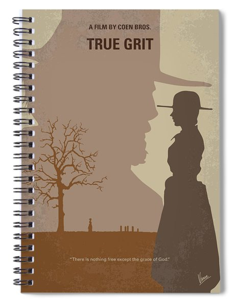No860 My True Grit Minimal Movie Poster Spiral Notebook